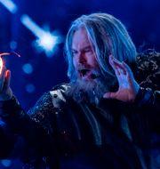 Rein Alexander i norska Melodifestivalen. Tore Meek / TT NYHETSBYRÅN