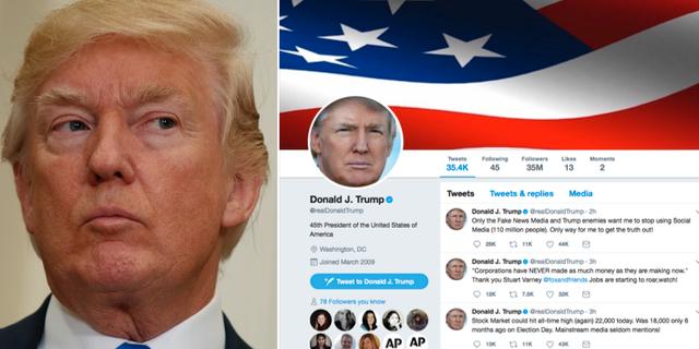 Donald Trump har gjort sig känd för att dela ut flera av sina hårdaste slag via Twitter. TT
