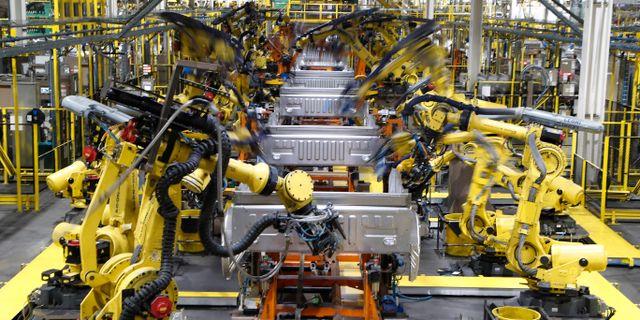 Arkivbild: Fords fabrik i Dearborn Michigan.  Carlos Osorio / TT NYHETSBYRÅN