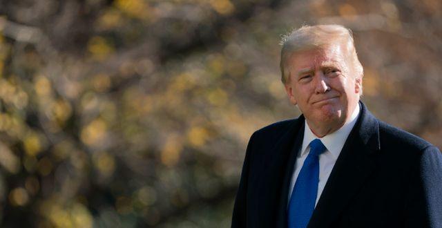 Arkivbild: Donald Trump utanför Vita huset Patrick Semansky / TT NYHETSBYRÅN
