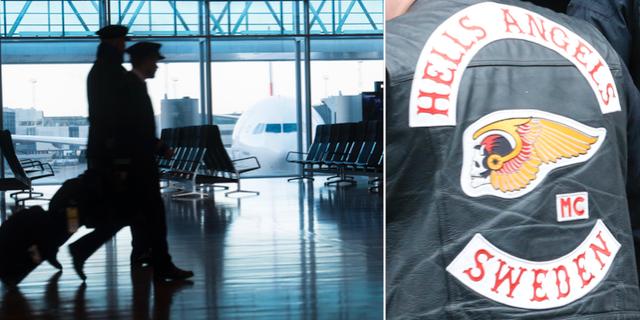 Hells Angels-medlemmar ska har arbetat på flygplatsens landningsbana. TT