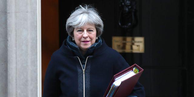 Theresa May.  DANIEL LEAL-OLIVAS / AFP