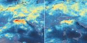 Januari till vänster, mars till höger.  ESA/TT