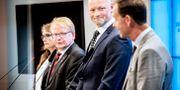 Bild från försvarsuppgörelsen mellan MP, S, C och L (Arkivbild) Tomas Oneborg/SvD/TT / TT NYHETSBYRÅN