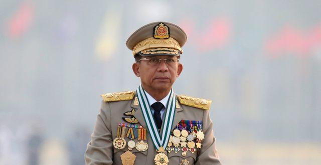 General Min Aung Hlaing.  TT NYHETSBYRÅN