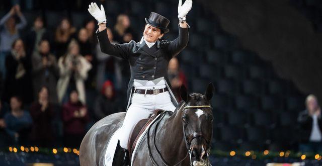 Tinne Vilhelmson Silfvén vid Sweden international Horse show 2019/Arkivbild. JOHANNA LUNDBERG / BILDBYRÅN