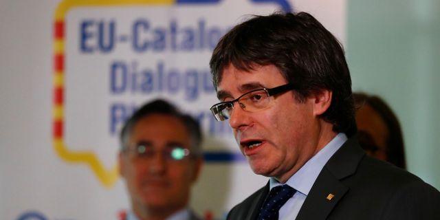 Carles Puigdemont. HANNIBAL HANSCHKE / TT NYHETSBYRÅN