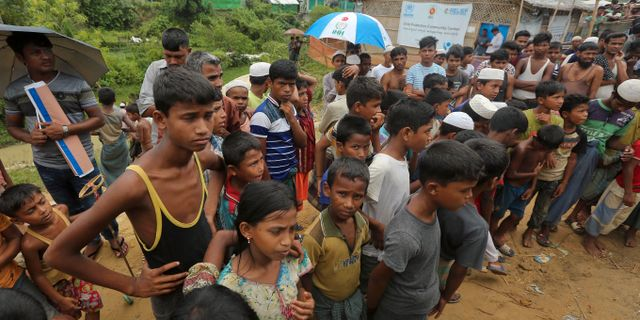 Rohingyer i lägret Cox's Bazar i Bangladesh som The Guardian har besökt. Mahmud Hossain Opu / TT NYHETSBYRÅN