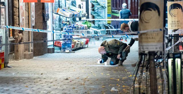 Bild från ett mord på Möllevången 2019. Johan Nilsson/TT / TT NYHETSBYRÅN