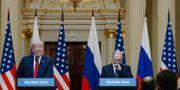 Donald Trump och Vladimir Putin under pressträffen i Helsingsfors. Alexander Zemlianichenko / TT / NTB Scanpix