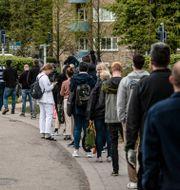 Kö till vaccinationscentral i Malmö.  Johan Nilsson/TT / TT NYHETSBYRÅN