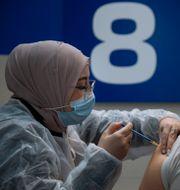 Vaccination i Israel. Oded Balilty / TT NYHETSBYRÅN