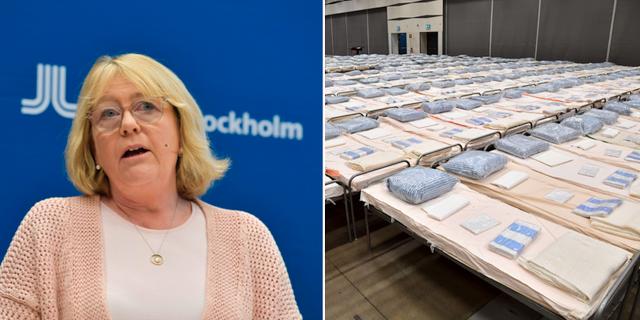 Region Stockholms finansregionråd Irene Svenonius (M / Fältsjukhuset i Älvsjö Jessica Gow / Jonas Ekströmer / TT