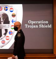 155 personer har hittills gripits i Sverige inom ramen för den globala insatsen Trojan Shield.  Denis Poroy / TT NYHETSBYRÅN