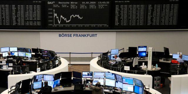 Arkivbild: Frankfurtbörsen.  STAFF / TT NYHETSBYRÅN
