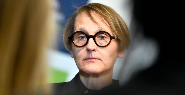 Annika Sundén, analyschef på Arbetsförmedlingen.  Claudio Bresciani/TT / TT NYHETSBYRÅN