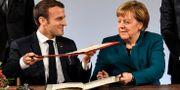Macron och Merkel. Arkivbild. Martin Meissner / TT NYHETSBYRÅN