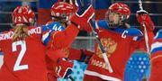 Ryska damhockeylaget under OS i Sotji. Arkivbild. Petr David Josek / TT / NTB Scanpix