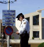 Polis i Málaga. JAVIER BARBANCHO / TT NYHETSBYRÅN