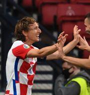 Superstjärnan Luka Modric, 35, gjorde ett vackert mål.  PAUL ELLIS / BILDBYRÅN