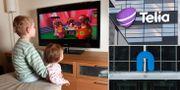 Barn som tittar på tv, Telias och Nents kontor i Stockholm. TT/Google Street View