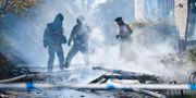 Räddningstjänsten släcker en lägenhetsbrand i Lund i början av oktober. Johan Nilsson/TT / TT NYHETSBYRÅN