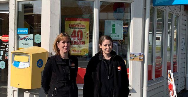 Maria Larsson och Sara Boström, äger och driver Handlar'n i Trångsund, Krokoms kommun.