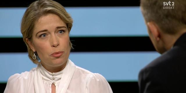 Annika Strandhäll (S) i SVT:s Agenda. SVT