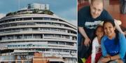 Fängelset i Caracas där Holt suttit fängslad/Holt nyligen frisläppt, poserar med sin fru Thamy och deras dotter. TT