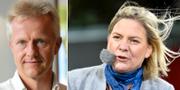 Stefan Fölster och Magdalena Andersson. TT