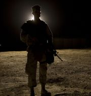 Arkivbild. Amerikansk soldat på al-Asadbasen i Irak, som attackerades i natt. JIM WATSON / AFP