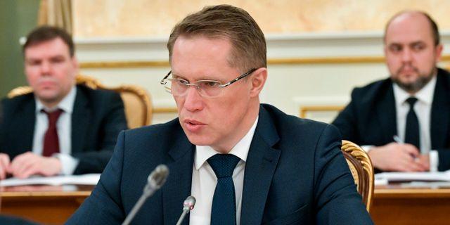 Rysslands hälsominister Mikhail Murashko. Alexander Astafyev / TT NYHETSBYRÅN