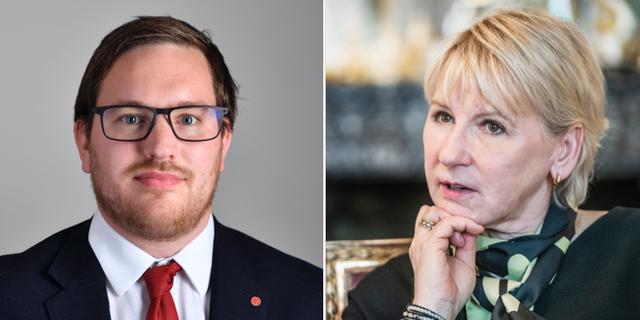 Håkan Svenneling och Margot Wallström TT
