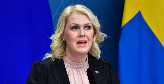 Lena Hallengren (S).  Jonas Ekströmer/TT / TT NYHETSBYRÅN