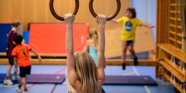 Gymnastiklektion. Anders Wiklund/TT / TT NYHETSBYRÅN