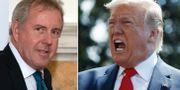 Kim Darroch/Donald Trump. TT