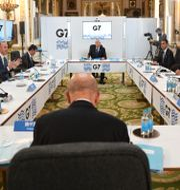 G7-ländernas utrikesministrar samlade tidigare i veckan.  Stefan Rousseau / TT NYHETSBYRÅN