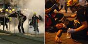 Söndagens protester i Hongkong är de våldsammaste hittills. TT