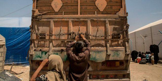 Bild från al-Hol.  Baderkhan Ahmad / TT NYHETSBYRÅN