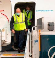 Arkivbild: FAA-chefen Steve Dickson kliver ut ett 737 Max-plan efter en provflygning i september 2020.  Mike Siegel / TT NYHETSBYRÅN