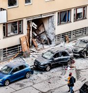 Bild från explosionen.  Tomas Oneborg/SvD/TT / TT NYHETSBYRÅN
