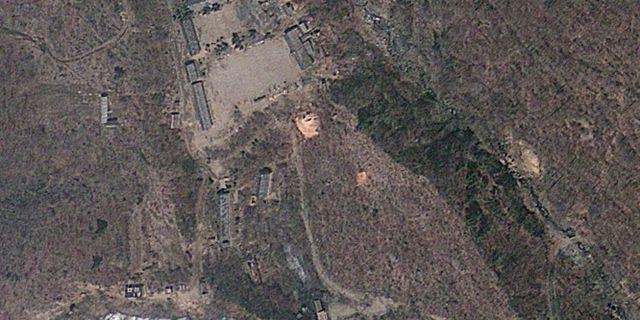 Testanläggningen Punggye-ri i Nordkorea.  TT / NTB Scanpix