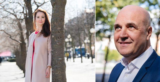 éprogrammet, Reinfeldt till höger. Alice Teodorescu Måwe har arbeteat med id TT