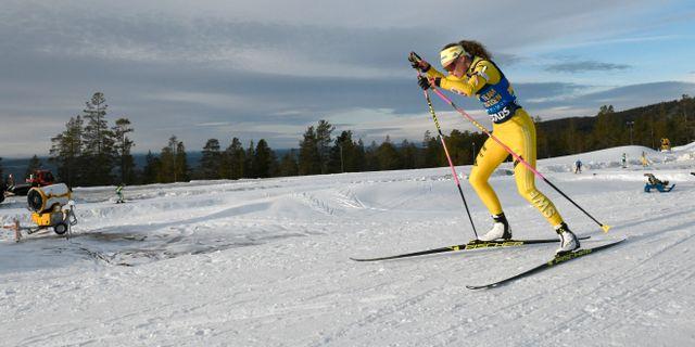 Hanna Öberg tränar i november 2018. Nisse Schmidt / TT NYHETSBYRÅN