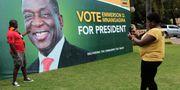 President Emmersson Mnangagwas kampanj. Tsvangirayi Mukwazhi / TT / NTB Scanpix
