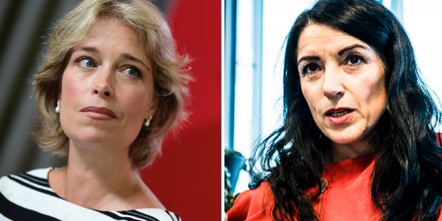 Annika Strandhäll och Amineh Kakabaveh. TT