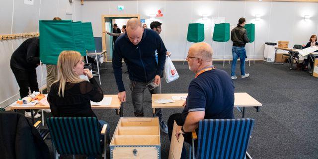 Röstning i Malmö hösten 2018. Johan Nilsson/TT / TT NYHETSBYRÅN
