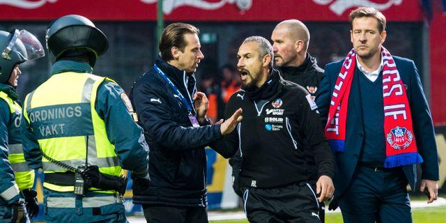 Henrik Larsson efter matchen mot Halmstad 2016. LUDVIG THUNMAN / BILDBYRÅN