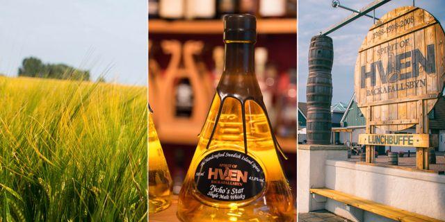 På ön Ven görs whisky, gin, snaps och vodka. Maria Eklind/Wikicommons