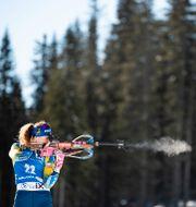 Hanna Öberg under loppet JOEL MARKLUND / BILDBYRÅN